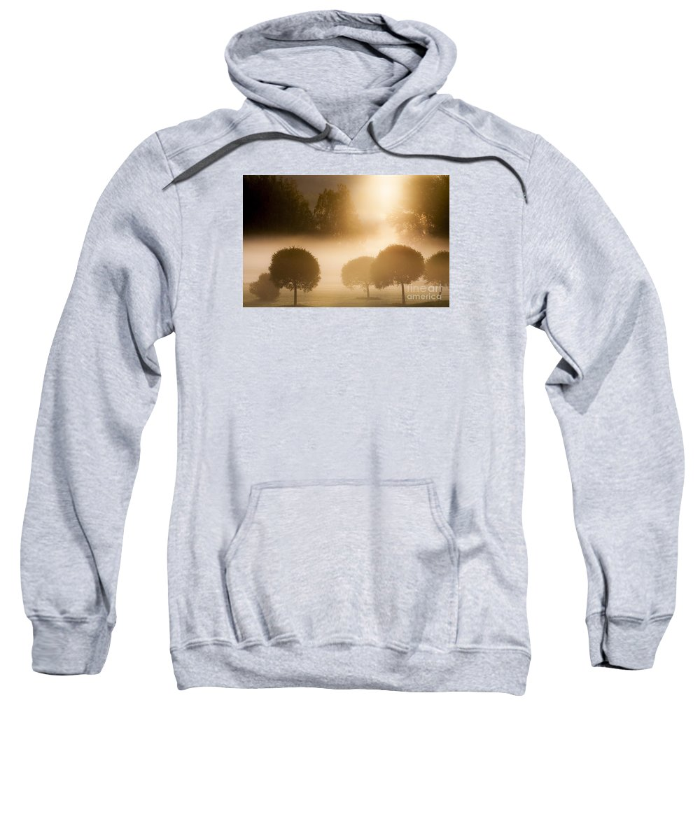 Morning Sweatshirt featuring the photograph Morning At Golf Course by Lasse Ansaharju