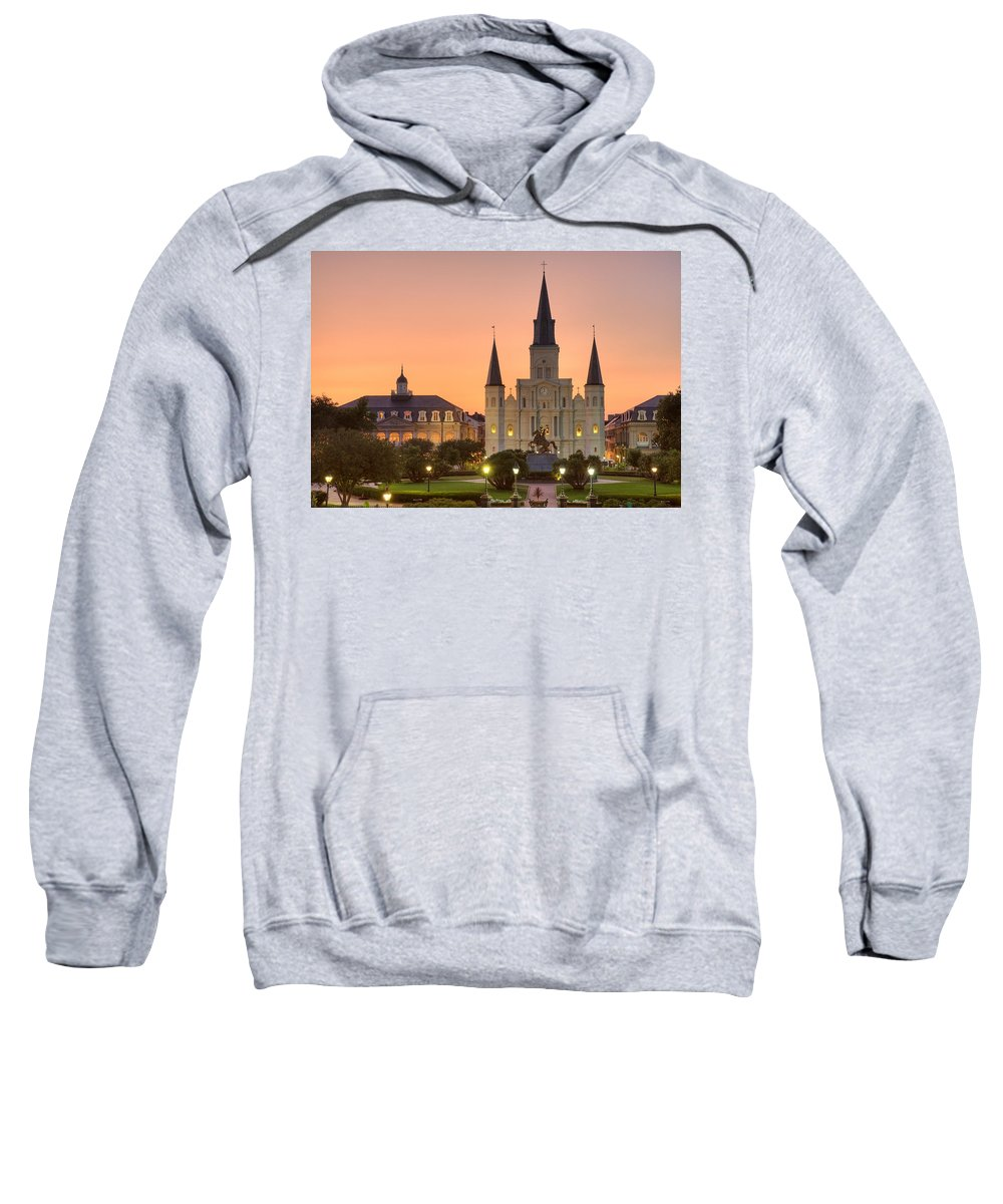 New Orleans Sweatshirt featuring the photograph New Orleans St Louis Cathedral by Marie-Dominique Verdier