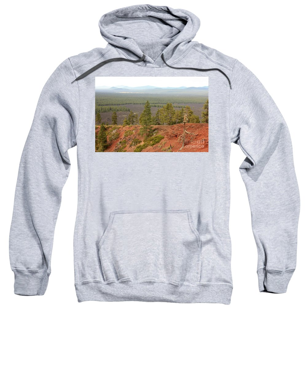Oregon Sweatshirt featuring the photograph Oregon Landscape - View From Lava Butte by Carol Groenen