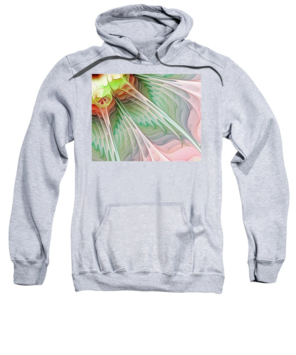 Digital Art Sweatshirt featuring the digital art Petals by Amanda Moore