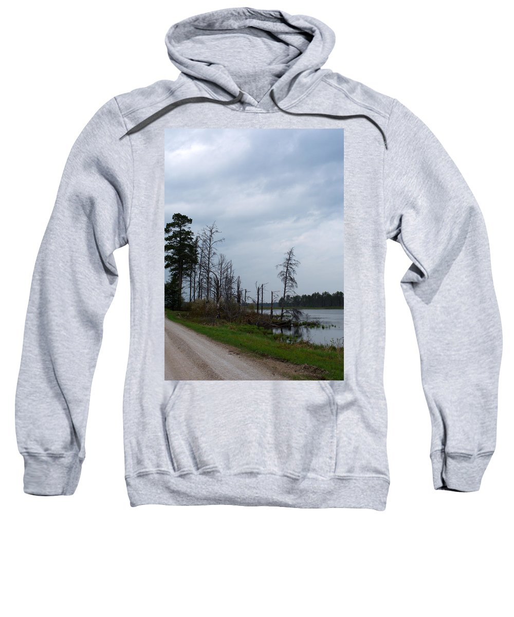 Nature Sweatshirt featuring the photograph Pond's Edge by Linda Kerkau