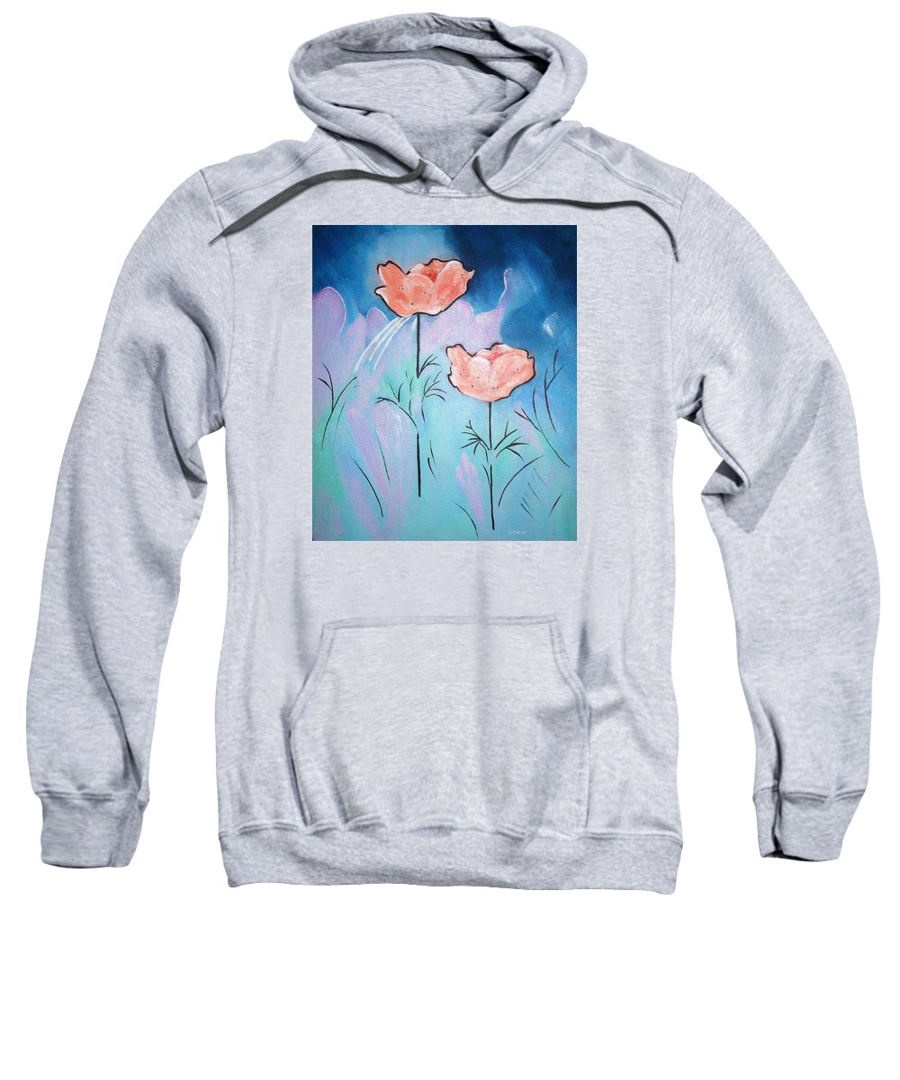 Poppies Sweatshirt featuring the painting Poppies by Gloria Dietz-Kiebron