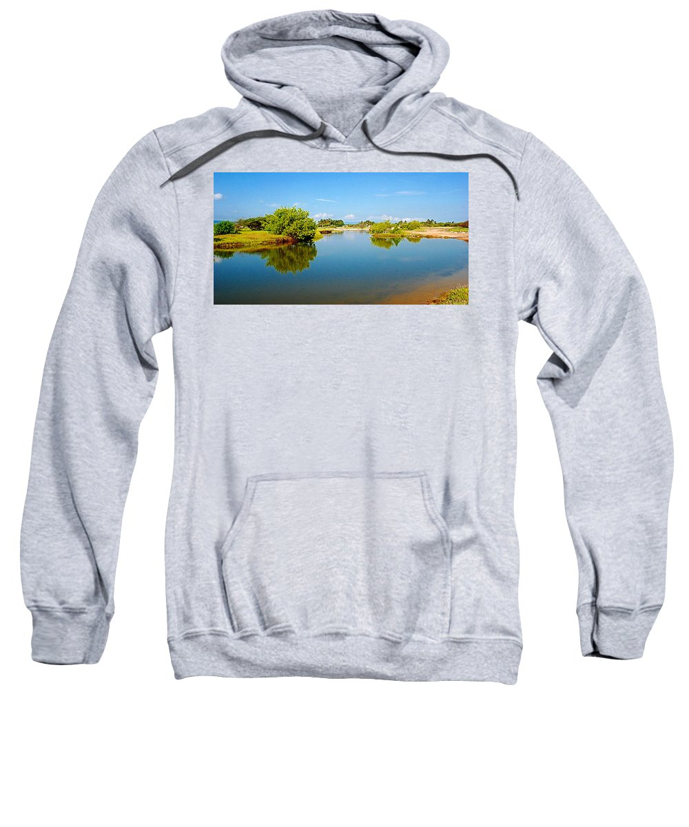 Reflects Sweatshirt featuring the photograph Reflects by Galeria Trompiz