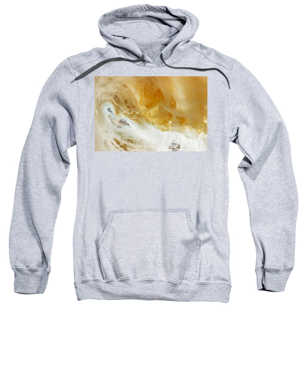 Amazing Sweatshirt featuring the photograph Sandy Wave by MakenaStockMedia - Printscapes