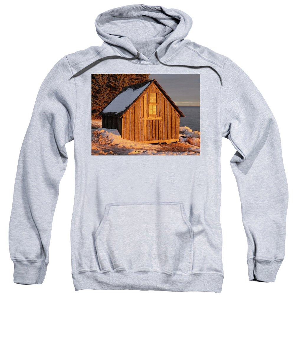 Duluth Minnesota Sweatshirt featuring the photograph Shack At Stoney Point by Alison Gimpel