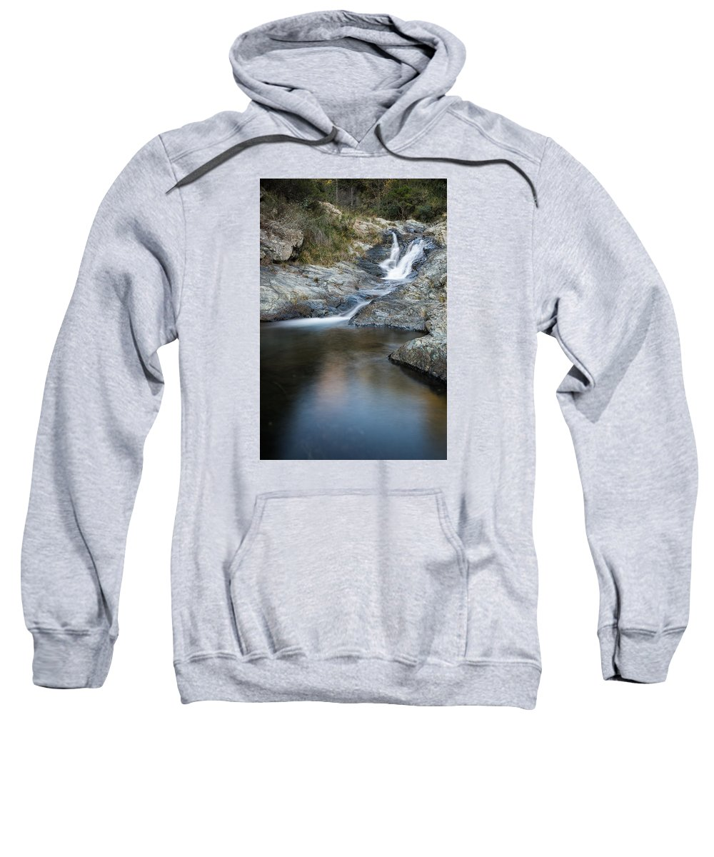 Arenzano Sweatshirt featuring the photograph Silky Stream by Claudio Bergero