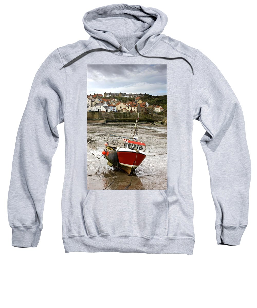 Abodes Sweatshirt featuring the photograph Staithes, North Yorkshire, England by John Short