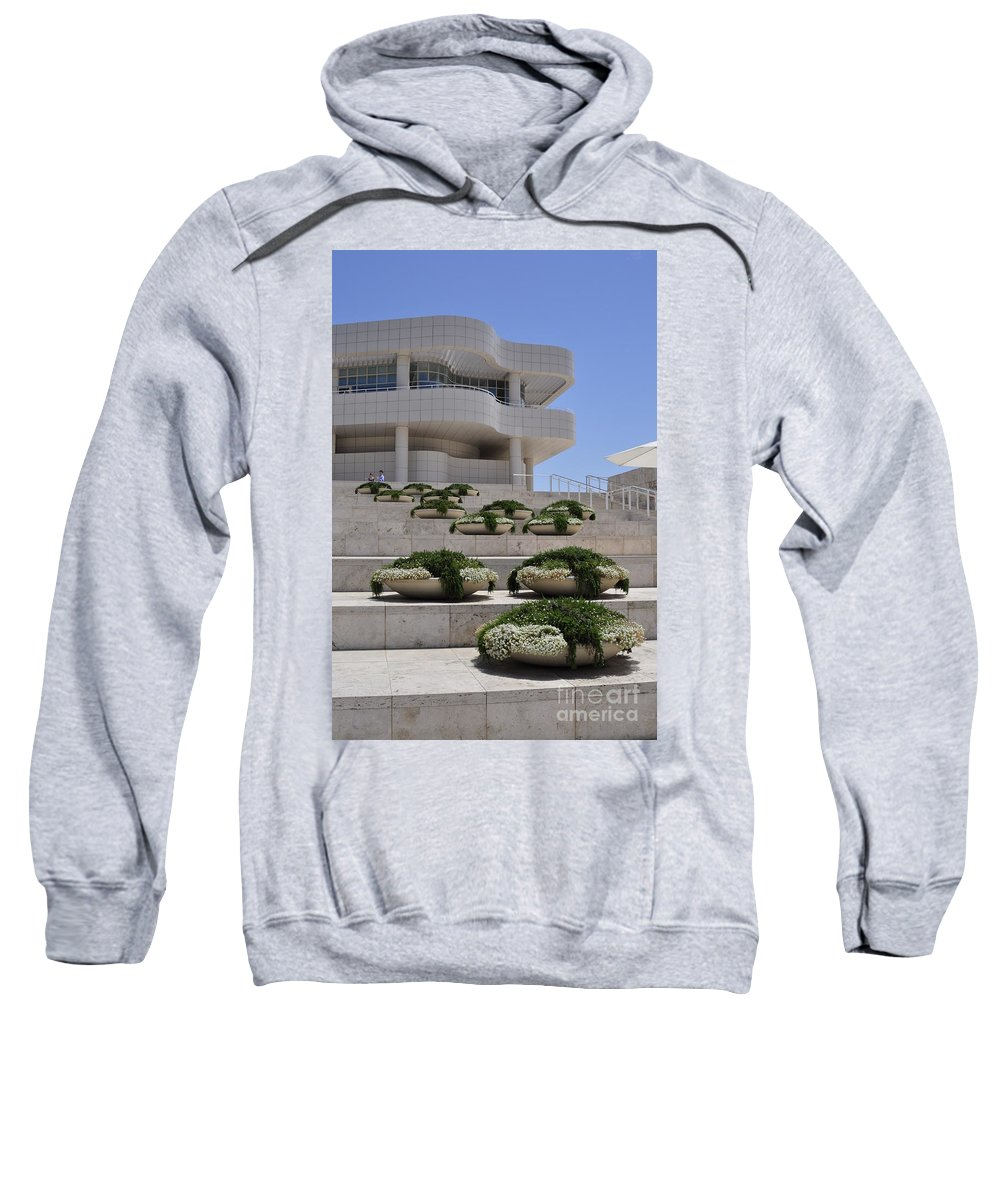 Clay Sweatshirt featuring the photograph The Getty by Clayton Bruster