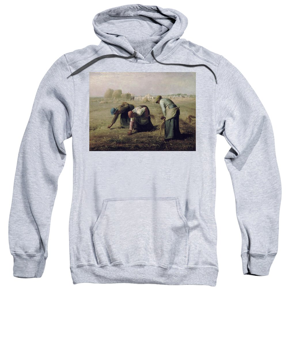 Animal Sweatshirt featuring the painting The Gleaners by Jean-Francois Millet