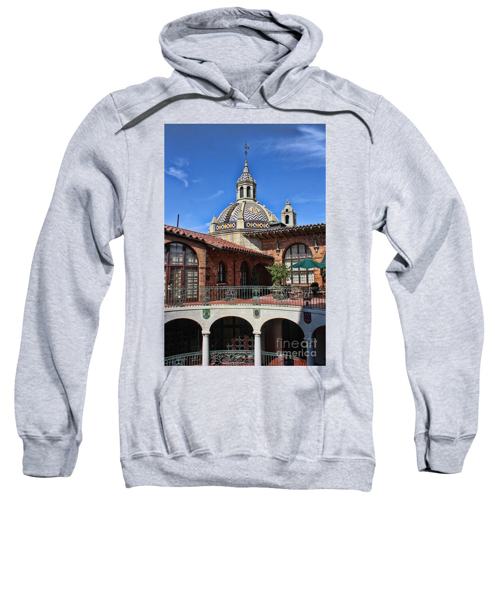 Mission Inn Sweatshirt featuring the photograph The Mission Inn by Tommy Anderson