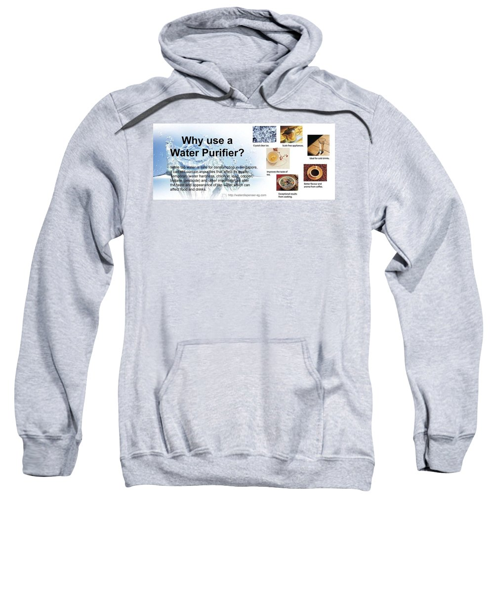 Hot And Cold Water Dispenser Sweatshirt featuring the sculpture Water Dispenser Singapore by Water Dispenser Singapore