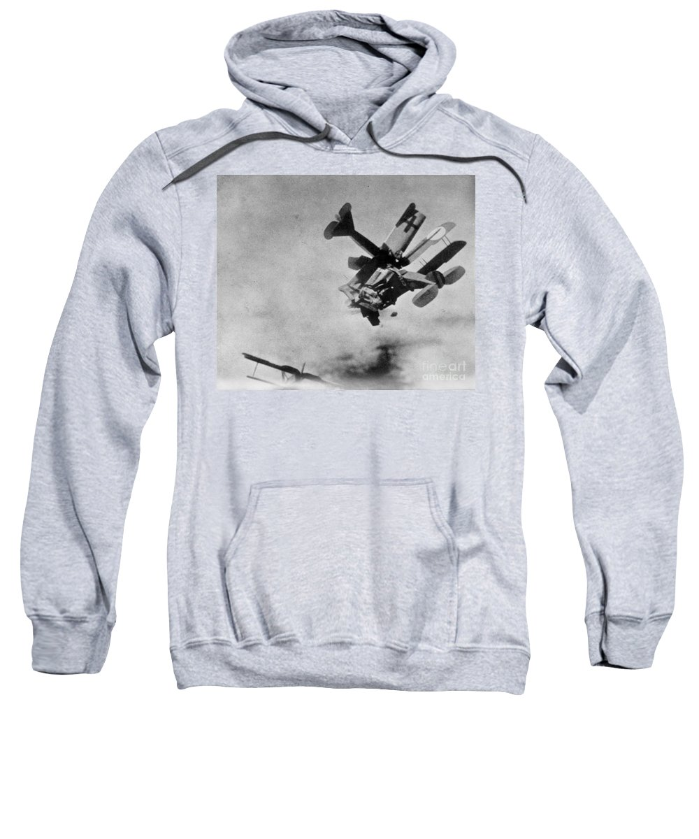 1910s Sweatshirt featuring the photograph World War I: Aerial Combat by Granger