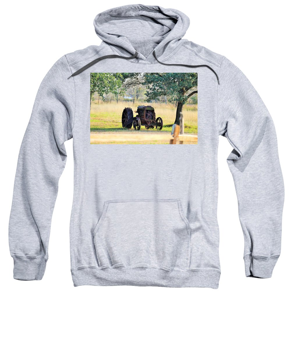 Tractor Sweatshirt featuring the photograph Rolling On Stone by Jeff Downs