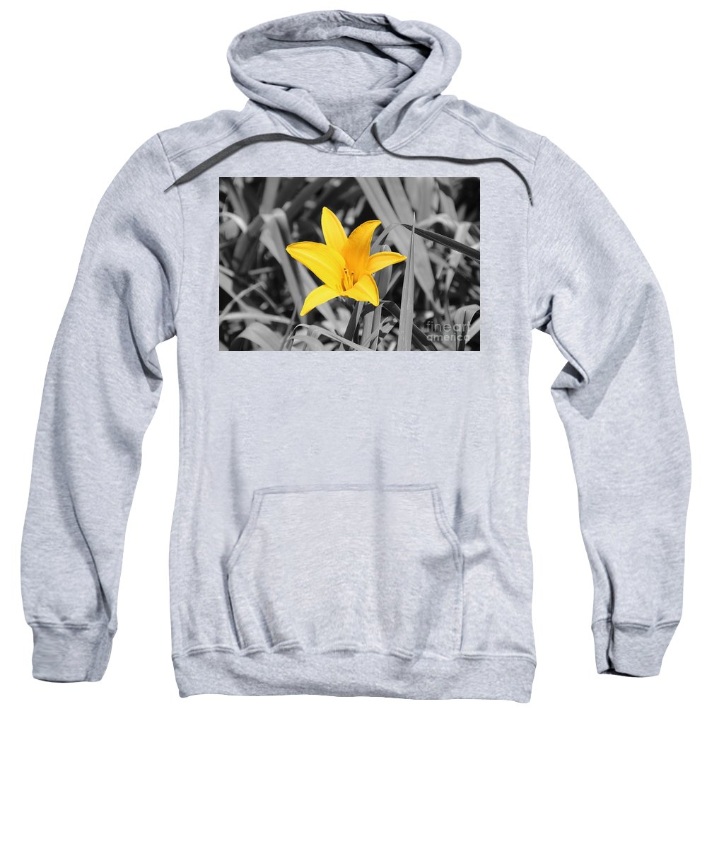 Flower Sweatshirt featuring the photograph Yellow Flower by Erik Dunn