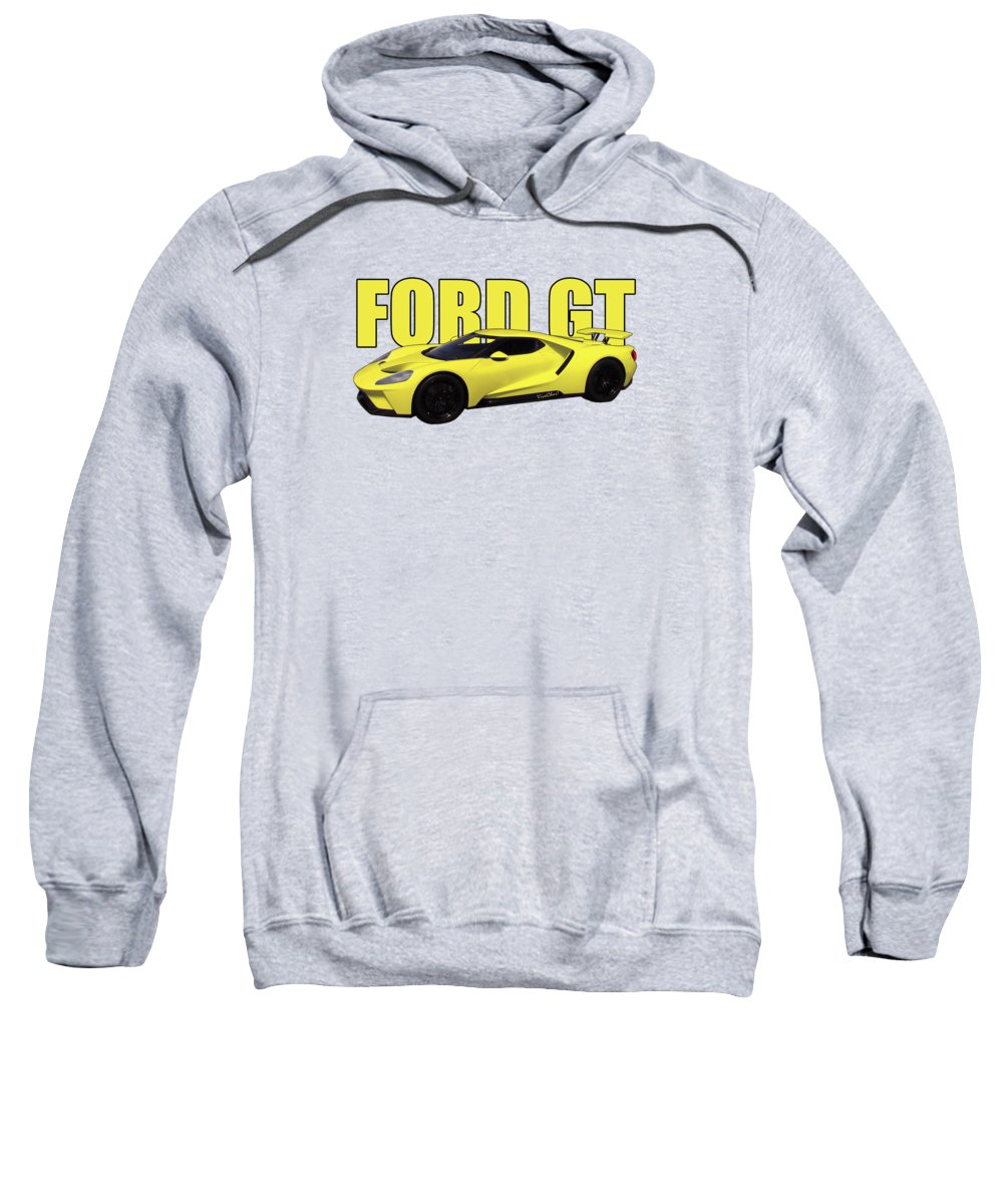 2018 Sweatshirt featuring the digital art 2018 Ford Gt At The Track by Chas Sinklier