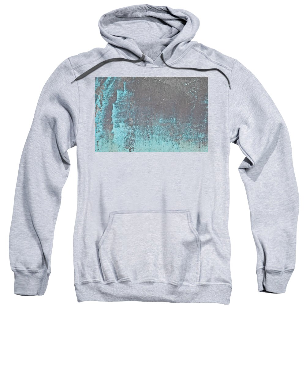 Abandoned Sweatshirt featuring the photograph Blue Metal by Tom Gowanlock