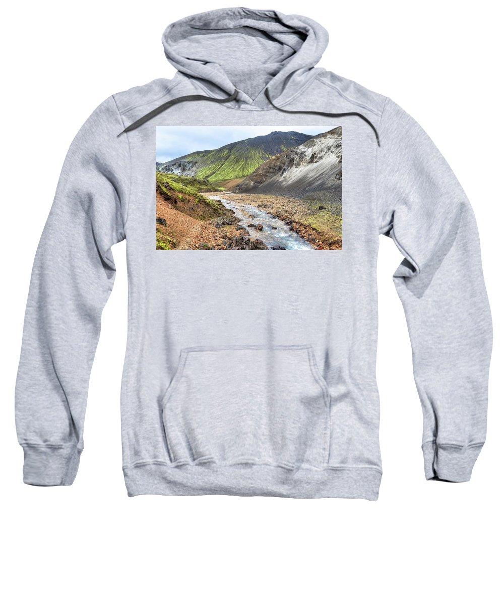 Landmannalaugar Sweatshirt featuring the photograph Landmannalaugar - Iceland by Joana Kruse