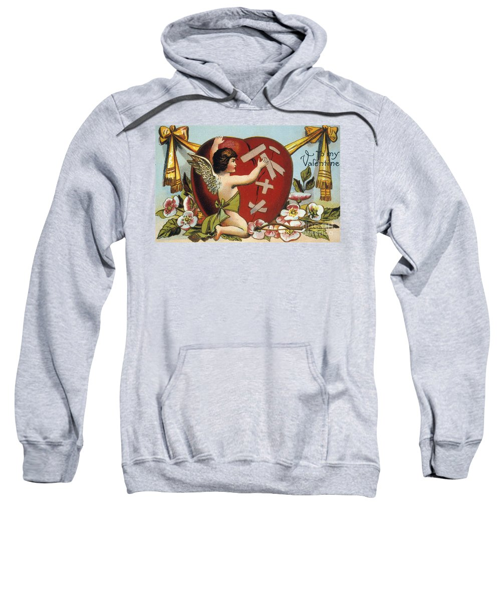 1914 Sweatshirt featuring the photograph Valentines Day Card by Granger