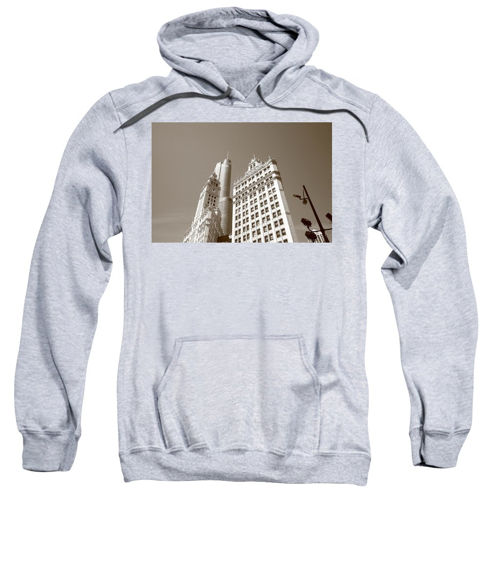 America Sweatshirt featuring the photograph Chicago Skyline by Frank Romeo