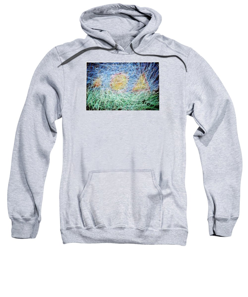 Sweatshirt featuring the painting 23 by Terry Wiklund