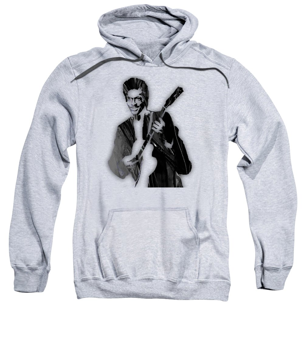 Chuck Berry Sweatshirt featuring the mixed media Chuck Berry Collection by Marvin Blaine