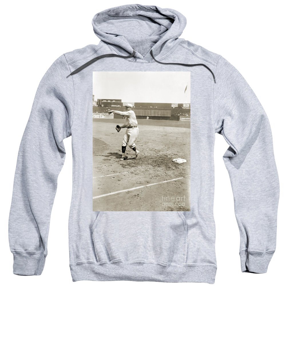 1921 Sweatshirt featuring the photograph George H. Ruth (1895-1948) by Granger