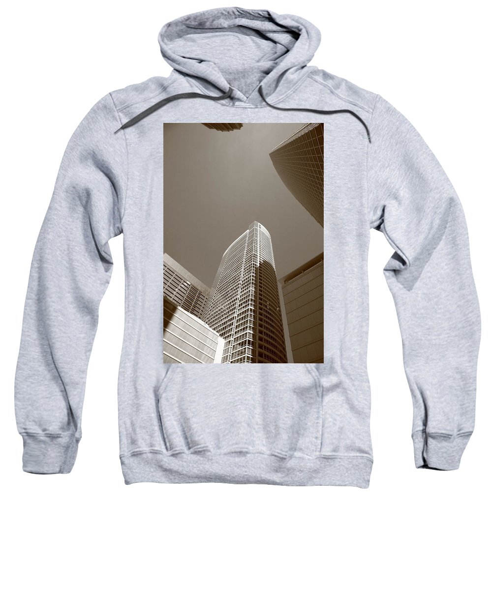 America Sweatshirt featuring the photograph Chicago Skyscrapers by Frank Romeo