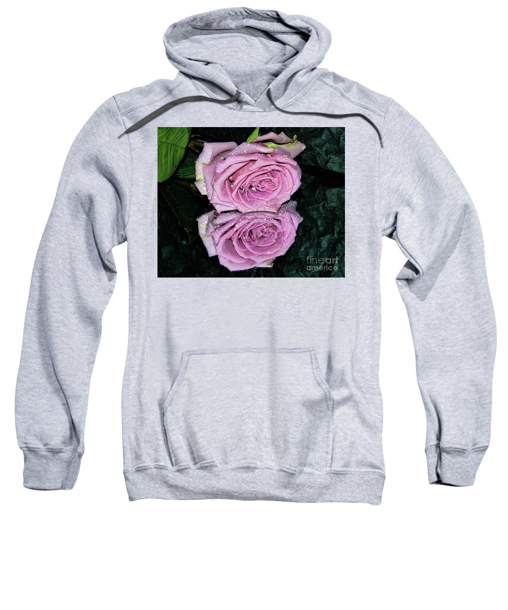 Flowers Sweatshirt featuring the photograph Purple Rose by Elvira Ladocki