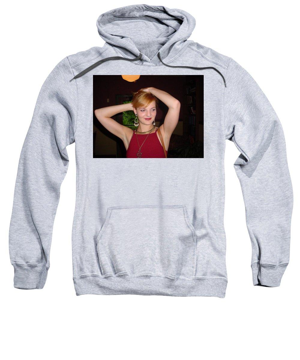 Samantha Sweatshirt featuring the photograph 25 by Samantha Sanders