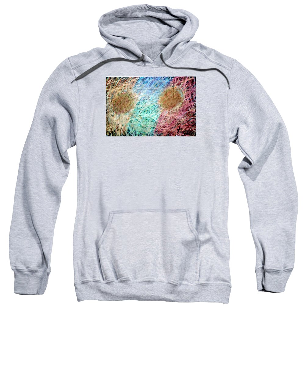 Sweatshirt featuring the painting 25 by Terry Wiklund