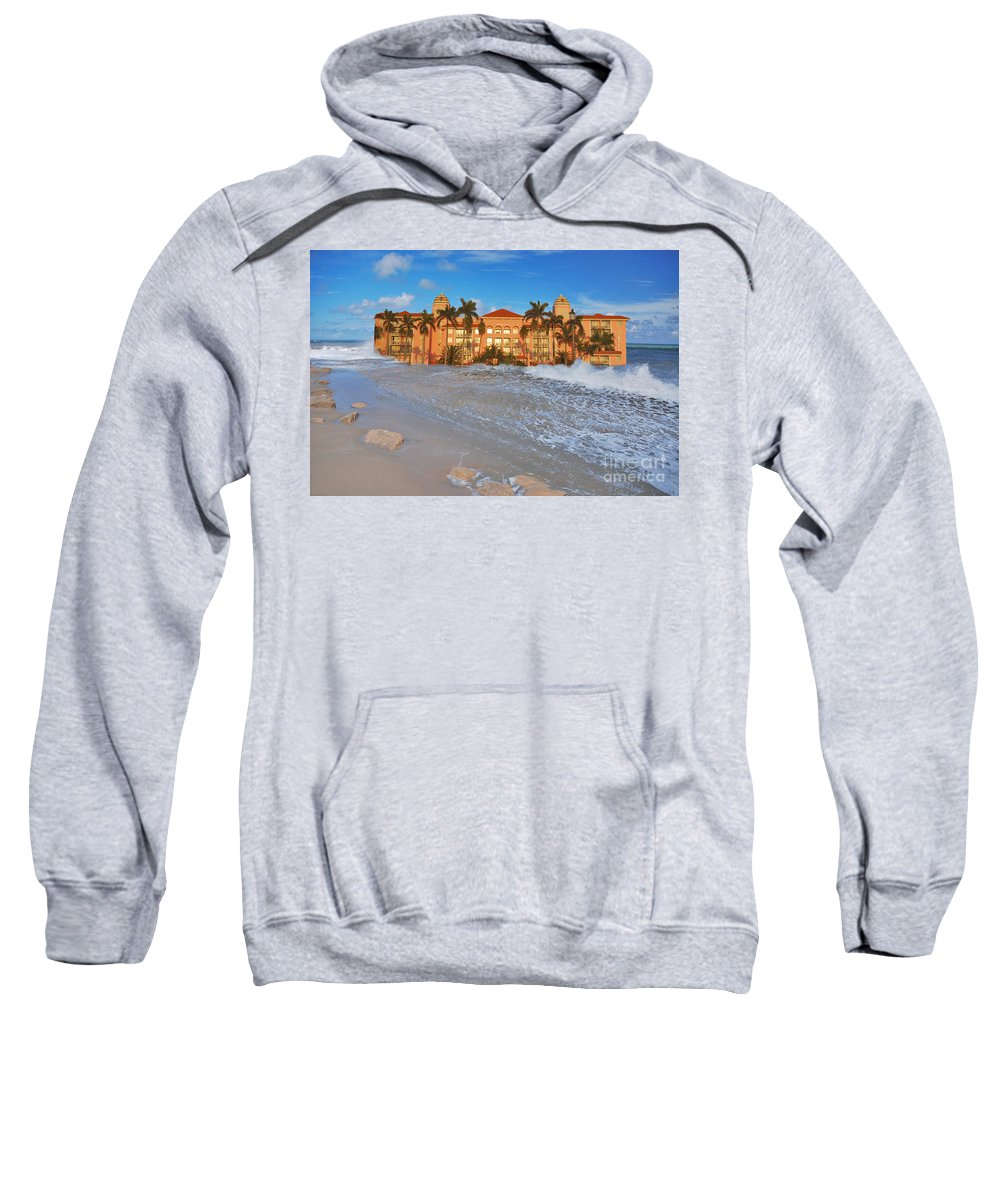 Hotel Sweatshirt featuring the photograph 26- Valet Parking Available by Joseph Keane