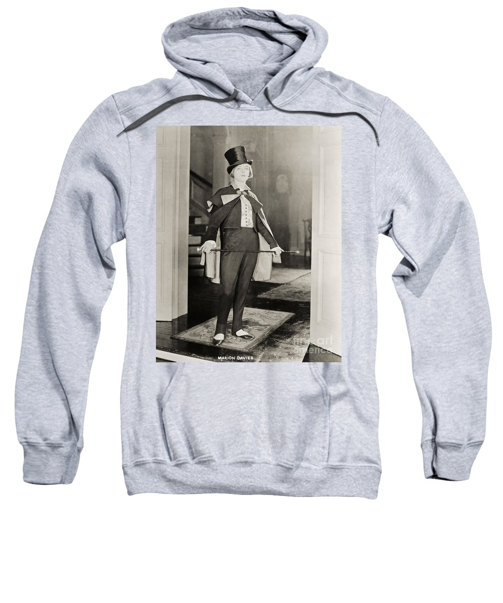 -women Single Figures- Sweatshirt featuring the photograph Silent Film Still by Granger