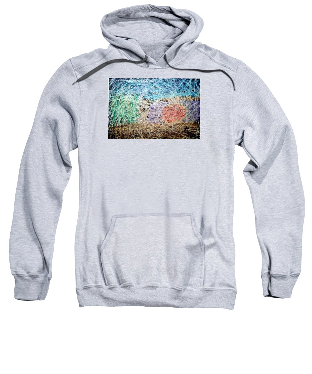 Sweatshirt featuring the painting 29 by Terry Wiklund