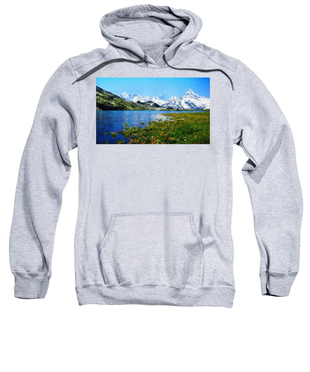 Landscape Sweatshirt featuring the painting Nature Landscape Pictures by World Map