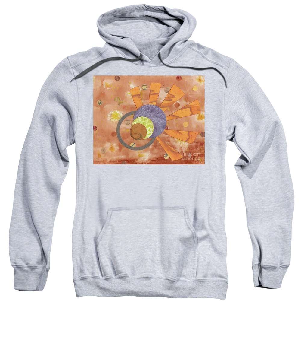 Orange Sweatshirt featuring the mixed media 2life by Desiree Paquette