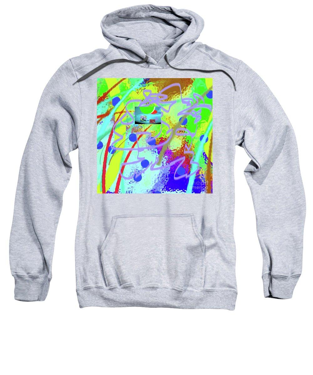 Walter Paul Bebirian Sweatshirt featuring the digital art 3-10-2015dabcdefghijklmn by Walter Paul Bebirian