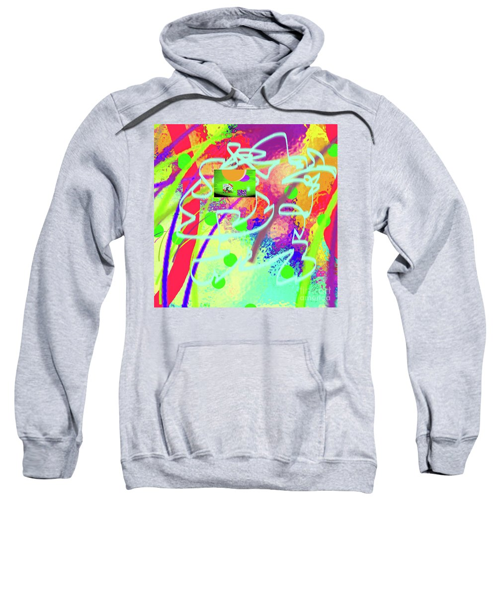 Walter Paul Bebirian Sweatshirt featuring the digital art 3-10-2015dabcdefghijklmnopqrtuvwx by Walter Paul Bebirian