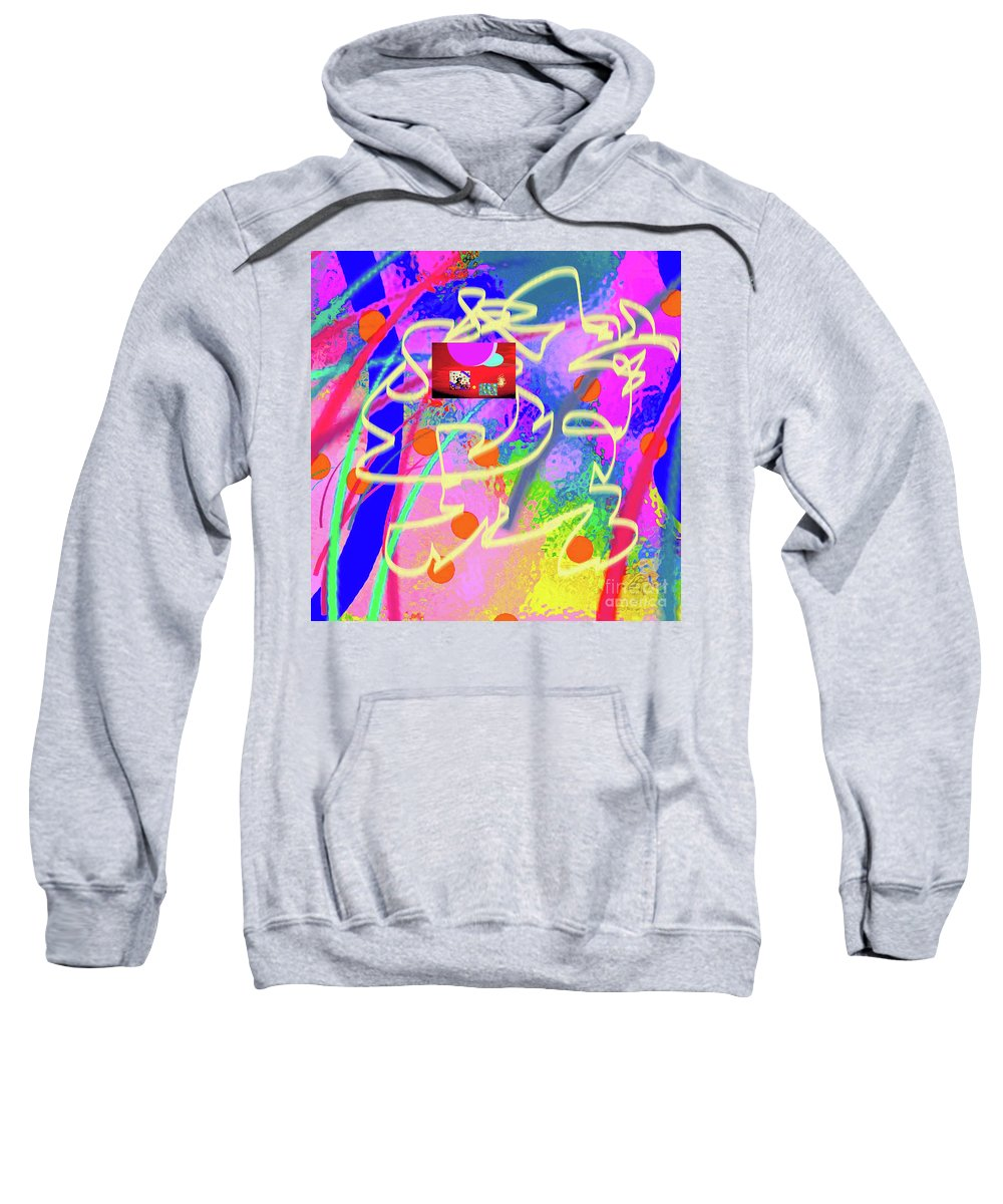Walter Paul Bebirian Sweatshirt featuring the digital art 3-10-2015dabcdefghijklmnopqrtuvwxyzabcdefghi by Walter Paul Bebirian