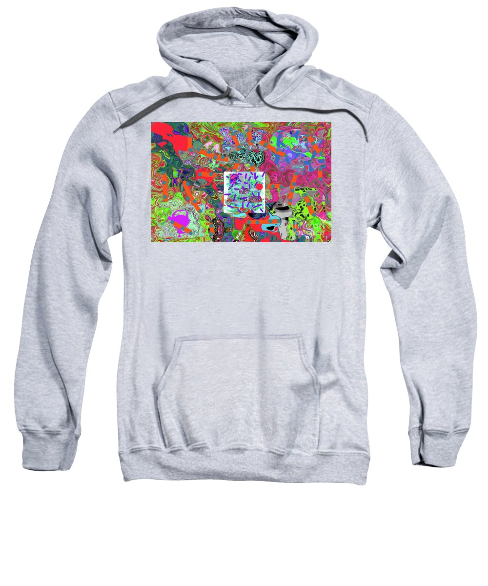 Walter Paul Bebirian Sweatshirt featuring the digital art 3-13-2015kab by Walter Paul Bebirian