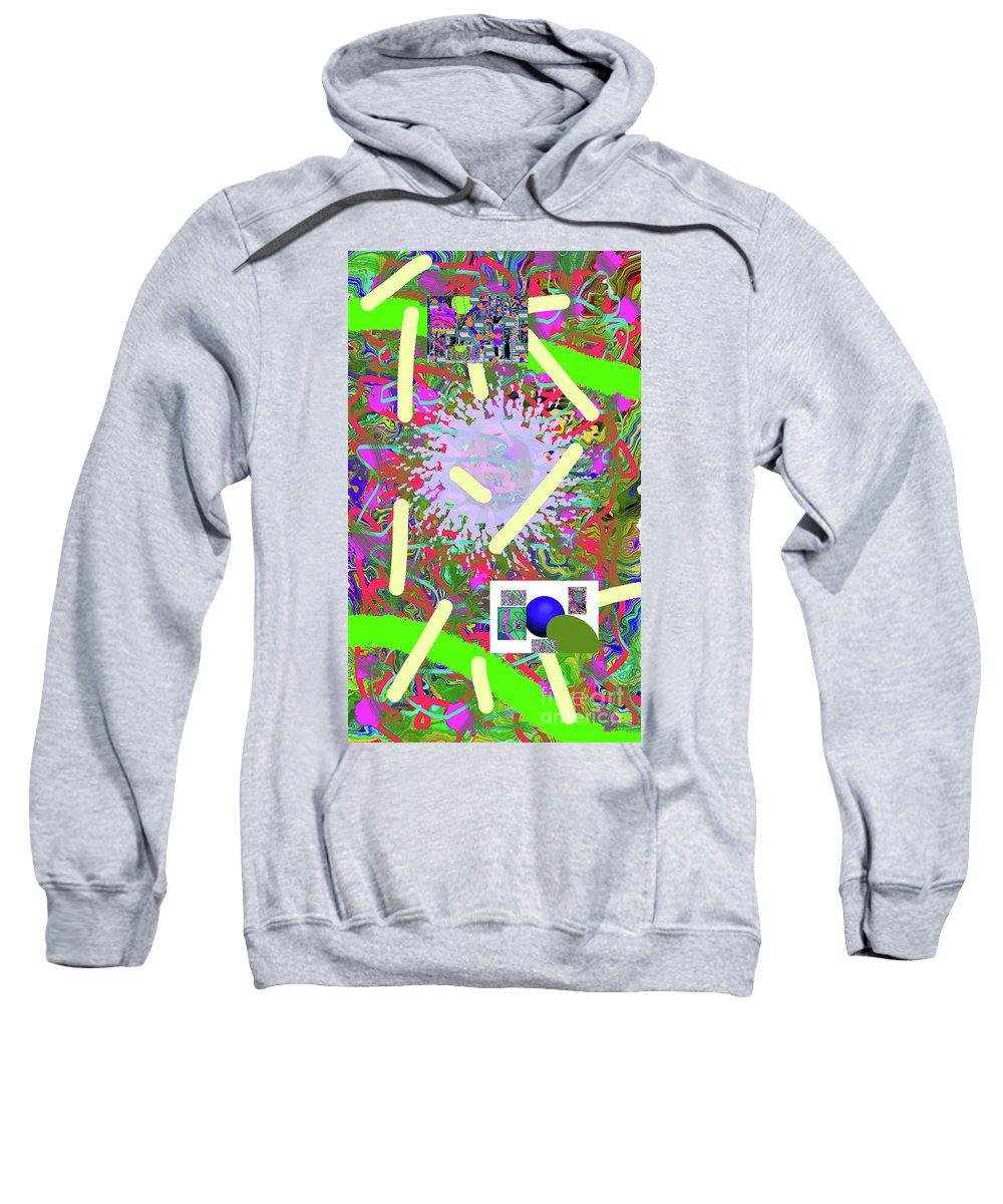 Walter Paul Bebirian Sweatshirt featuring the digital art 3-21-2015abcdef by Walter Paul Bebirian