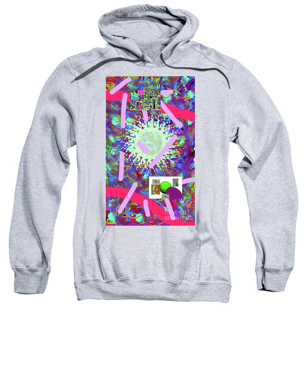 Walter Paul Bebirian Sweatshirt featuring the digital art 3-21-2015abcdefghijklmnopqrt by Walter Paul Bebirian