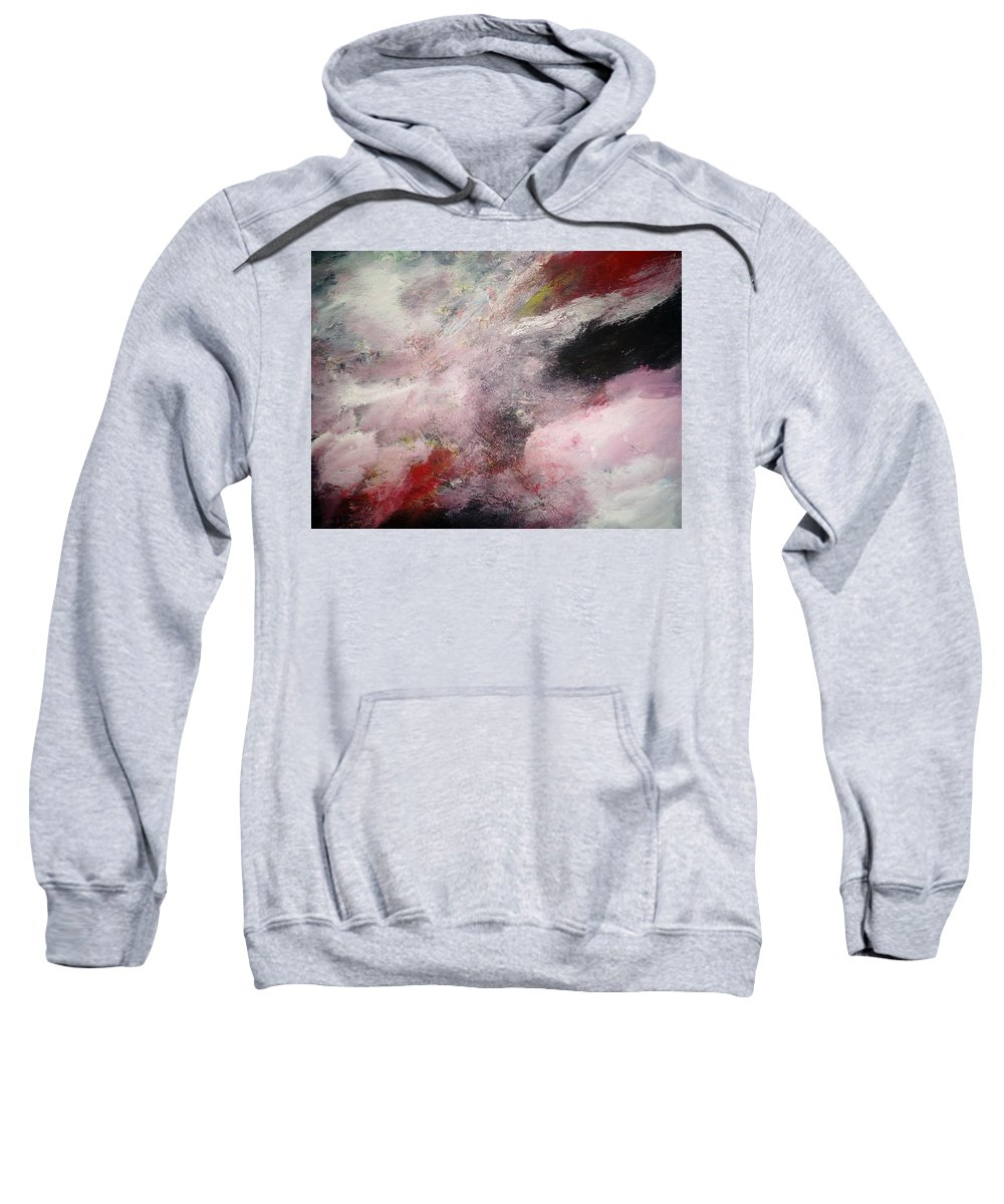Sweatshirt featuring the painting Abstract by Delia Moldovan