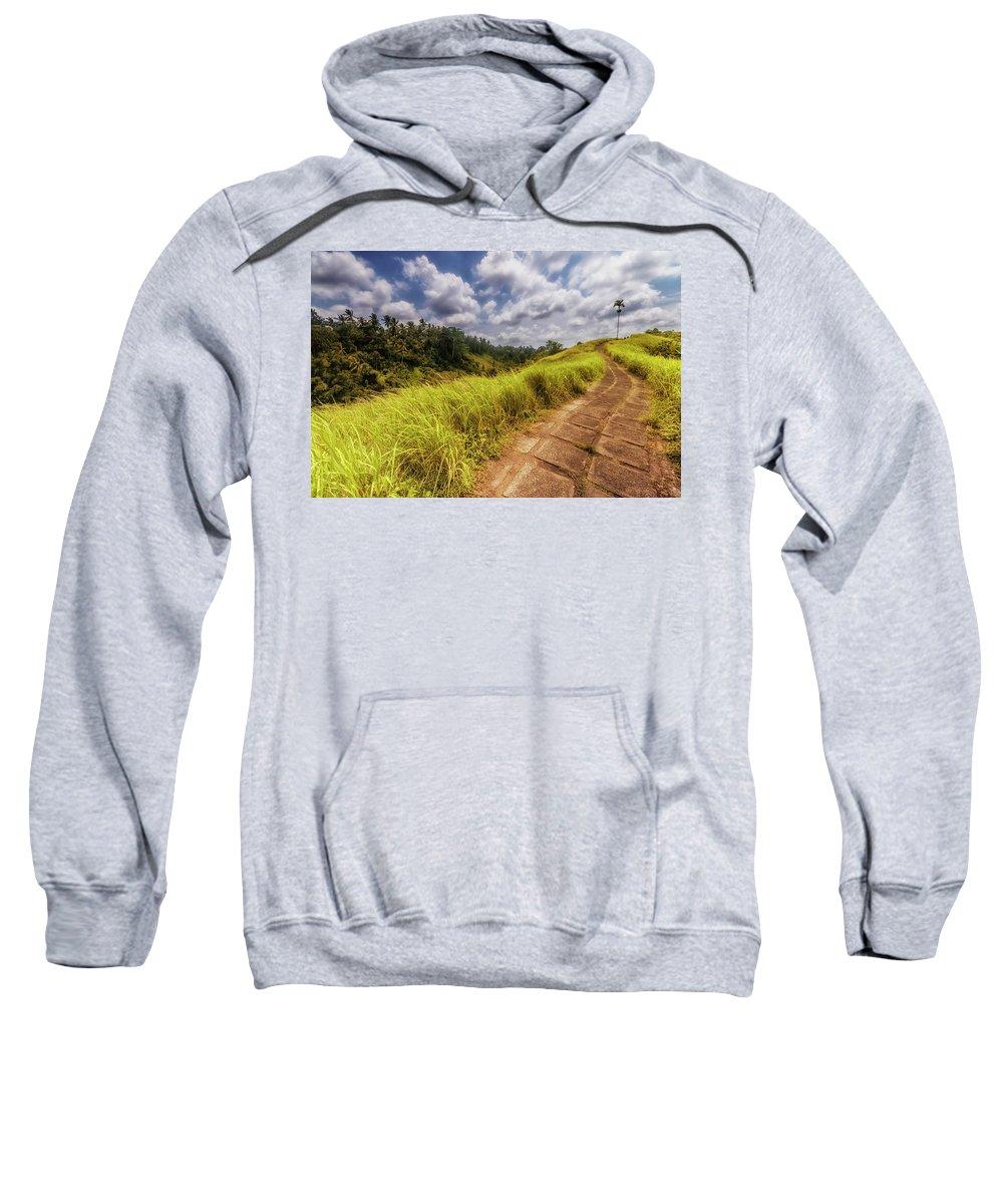 Mountain Sweatshirt featuring the photograph Bali Landscape by Jijo George