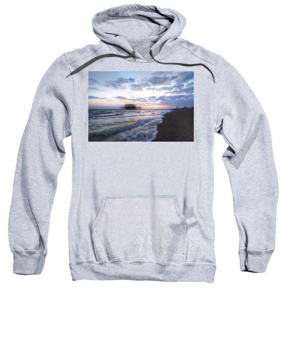 West Pier Sweatshirt featuring the photograph Brighton by Joana Kruse