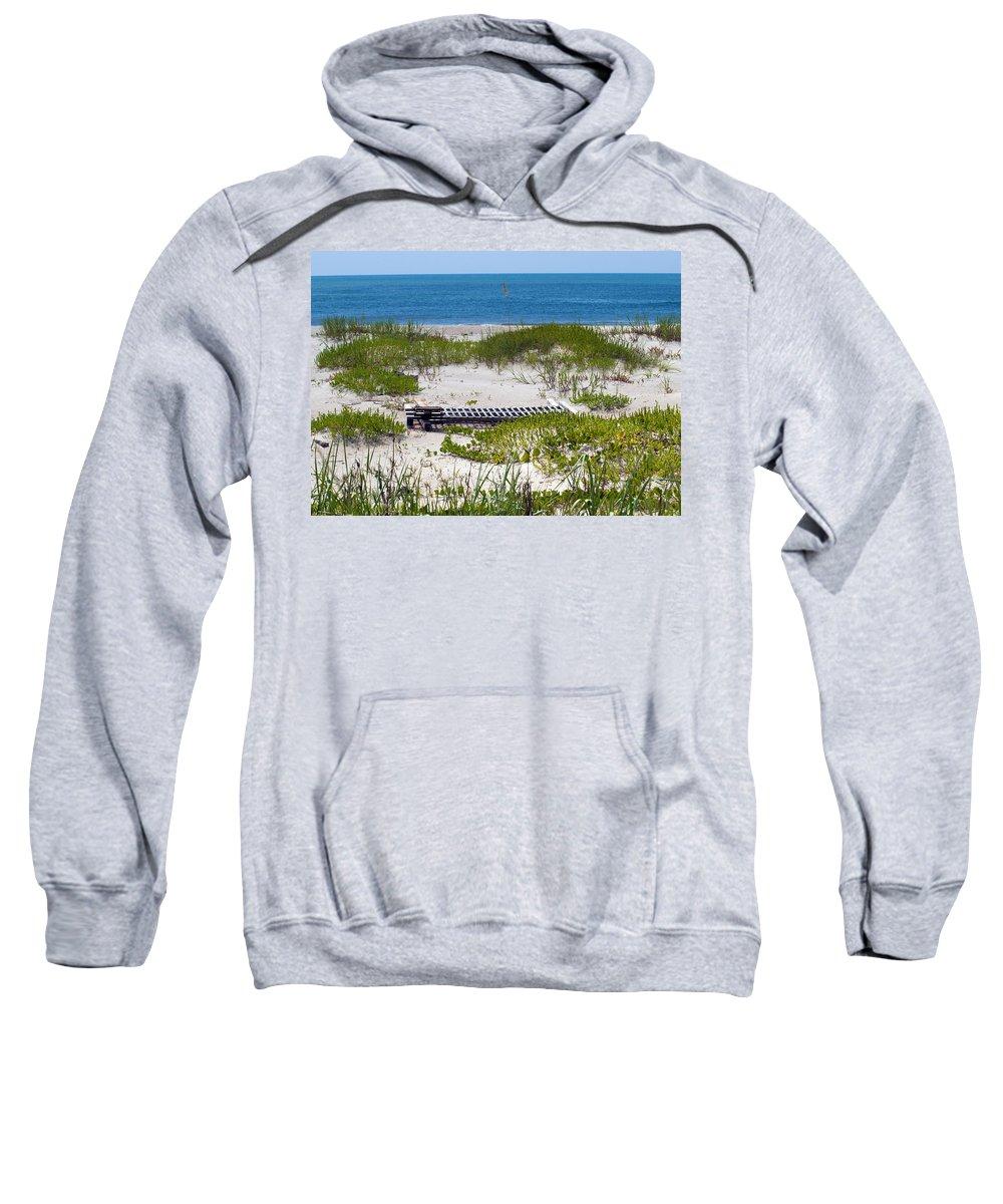 Florida; Beach; Ocean; Waves; Wave; Surf; Sand; Sandy; Coast; Shore; Atlantic; Cape; Canaveral; Scen Sweatshirt featuring the photograph Cape Canaveral Florida by Allan Hughes