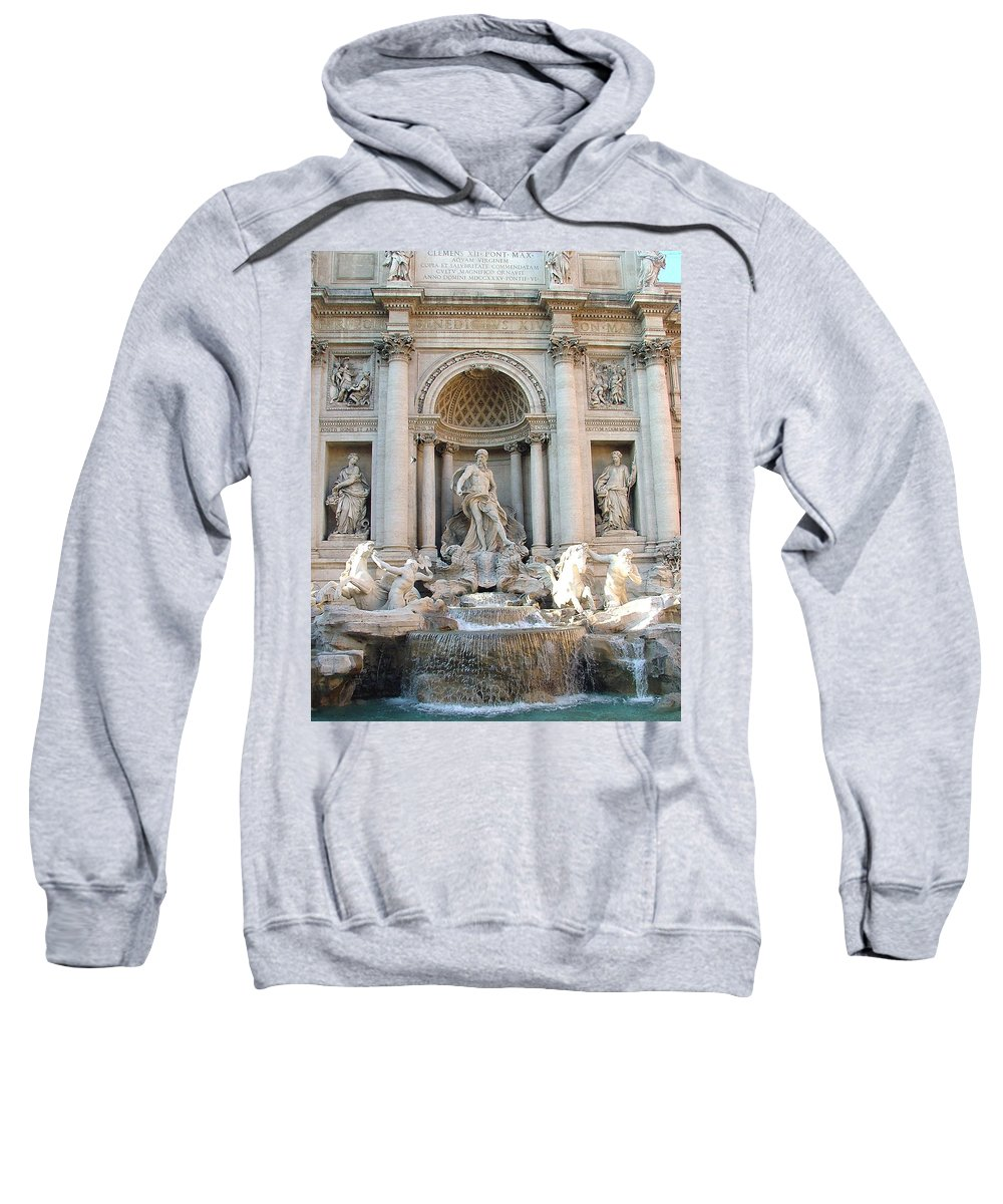 Trevi Sweatshirt featuring the photograph 3 Coins In A Fountain by Mindy Newman
