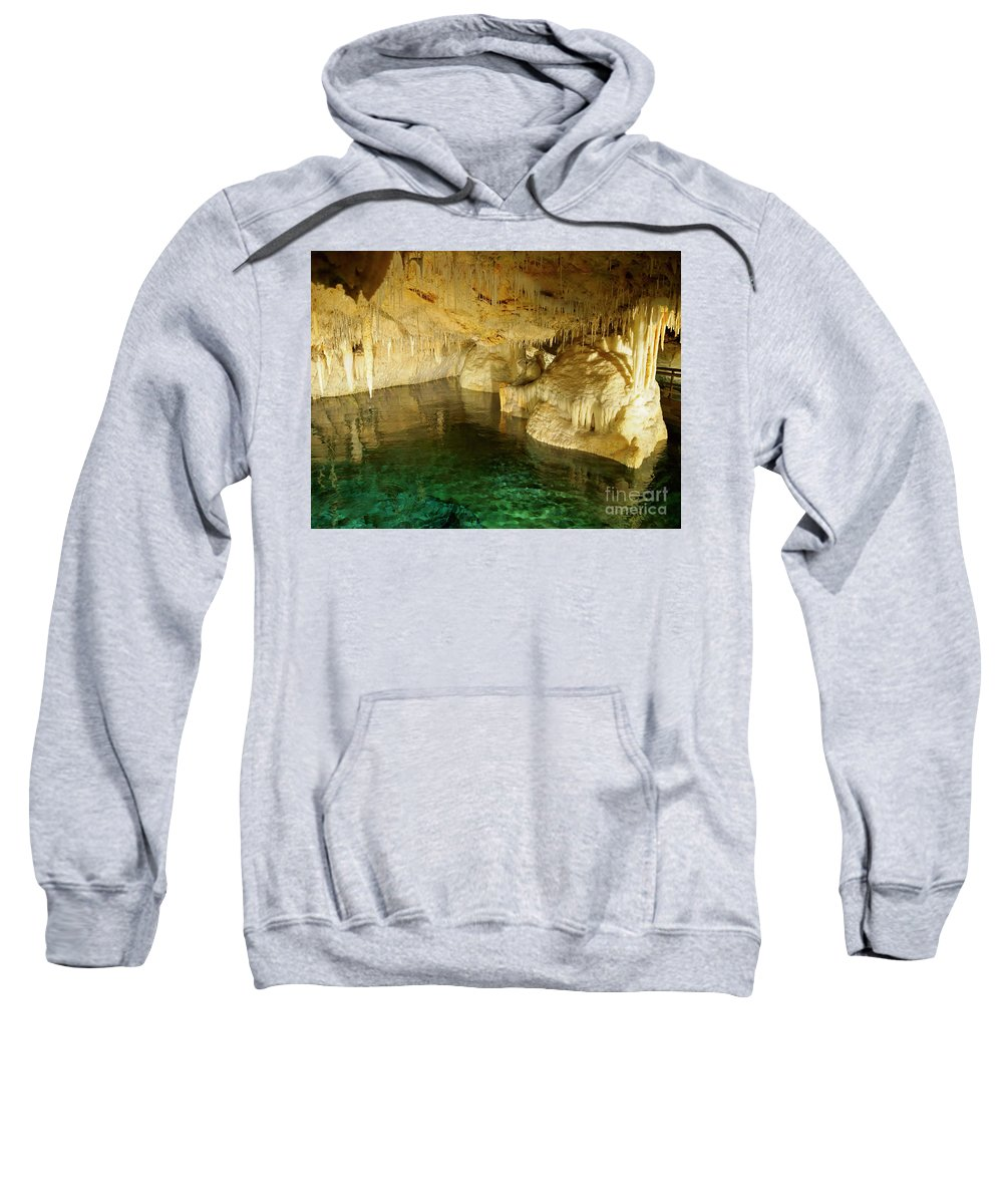 Crystal Cave Sweatshirt featuring the photograph Crystal Cave In Hamilton Parish Bermuda by Louise Heusinkveld