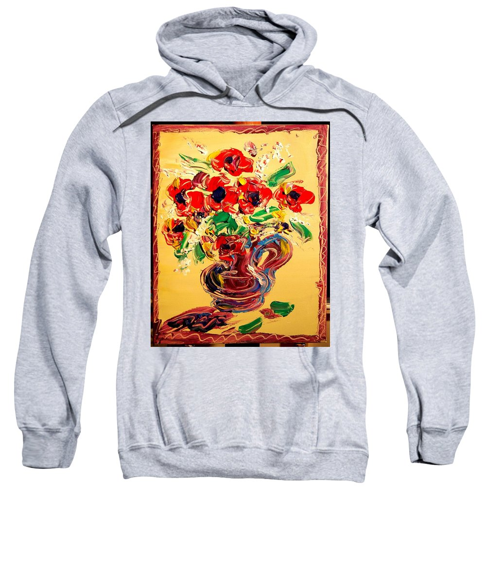 Surreal Framed Prints Sweatshirt featuring the painting Floral by Mark Kazav