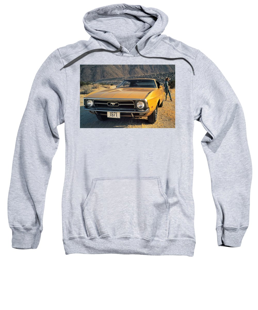 Ford Mustang Sweatshirt featuring the digital art Ford Mustang by Bert Mailer