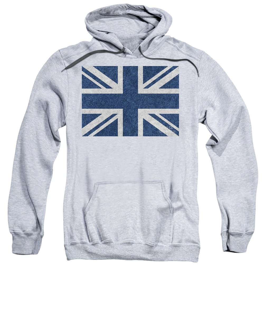 Vector Sweatshirt featuring the digital art Great Britain Denim Flag by Iurii Vlasenko